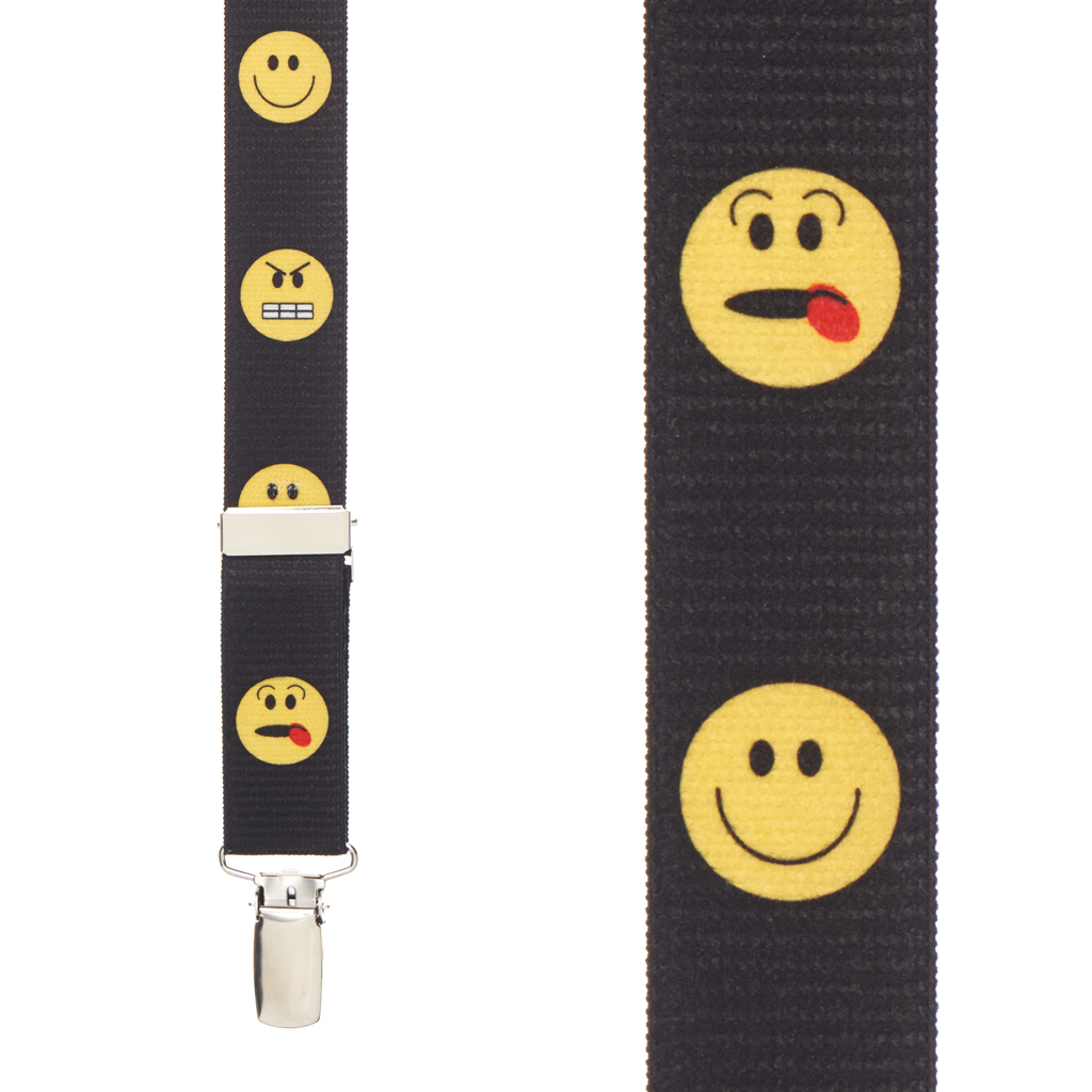 Silly Face Suspenders for Kids Front View