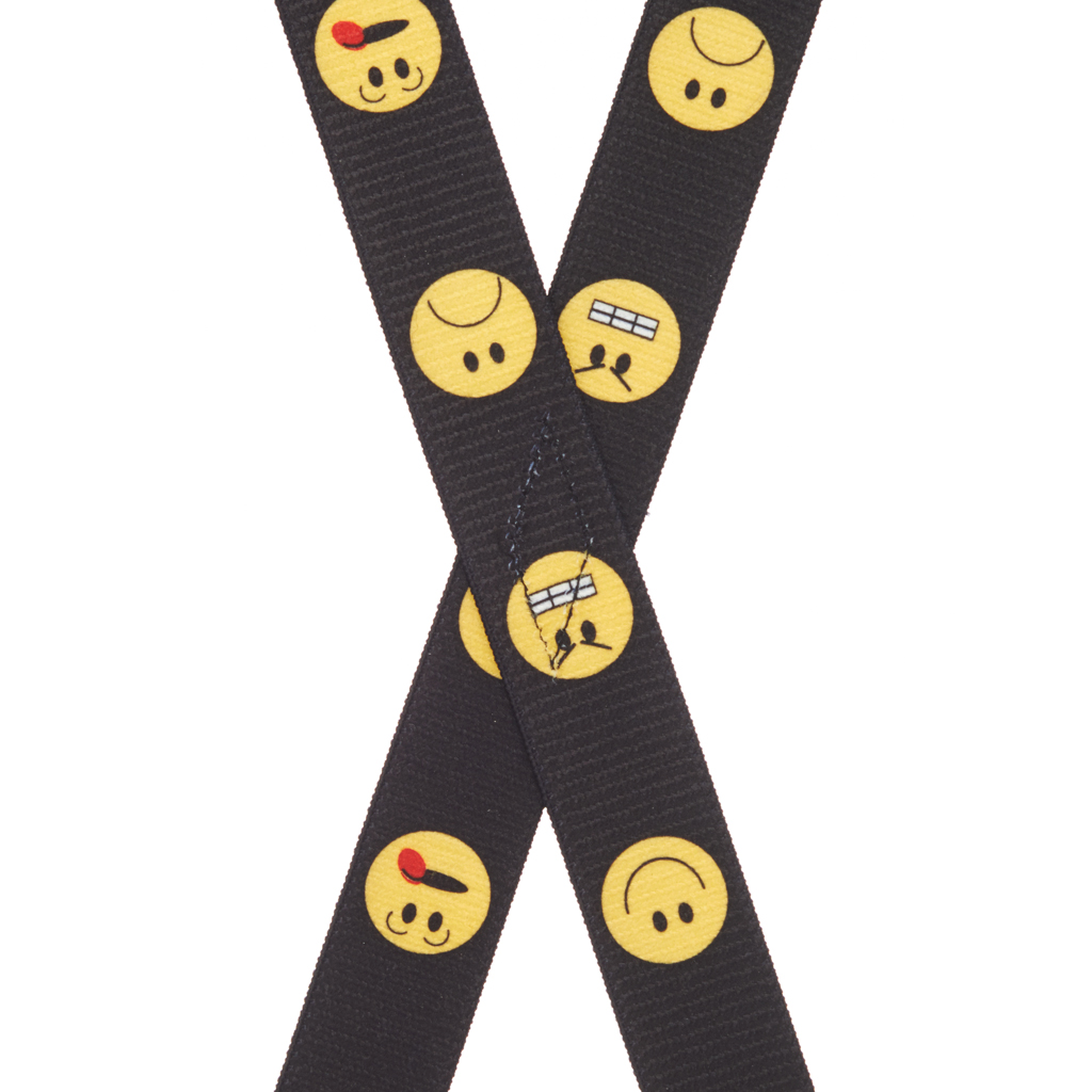 Silly Face Suspenders for Kids Rear View