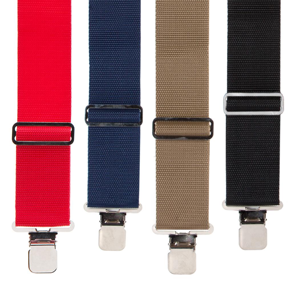 Heavy Duty Non Strech Work Suspenders - All colors