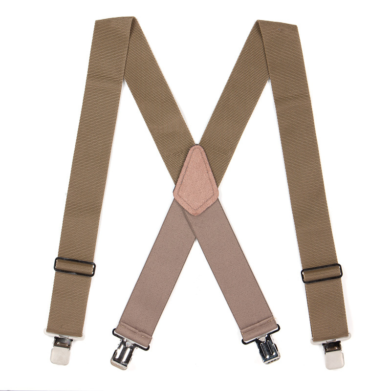 Non Stretch Work Suspenders - Full View