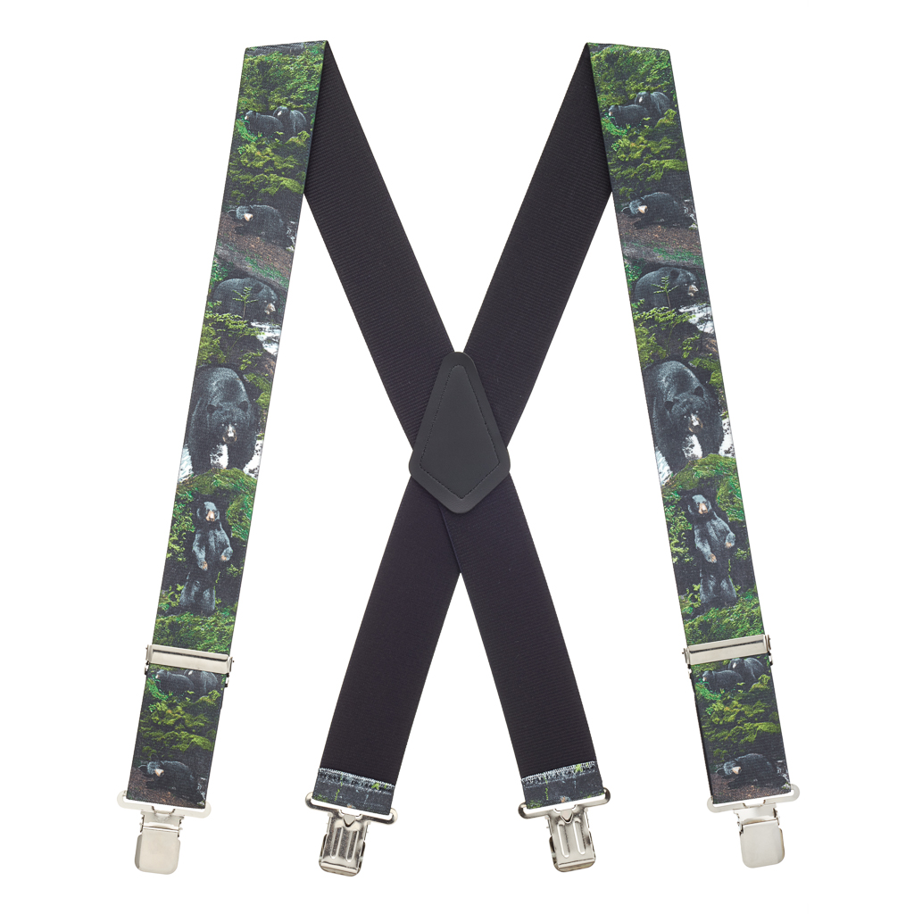 Black Bear Suspenders - Full View