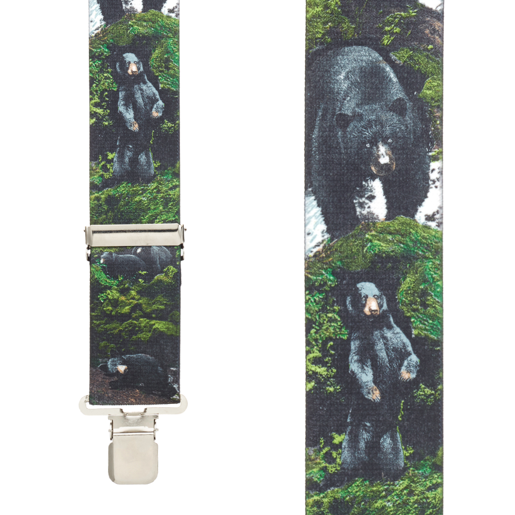 Black Bear Suspenders - Front View