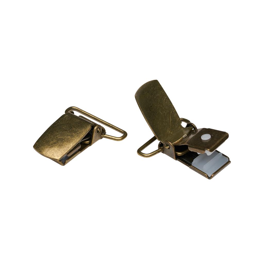 Drop Clip Black - Dark Brass