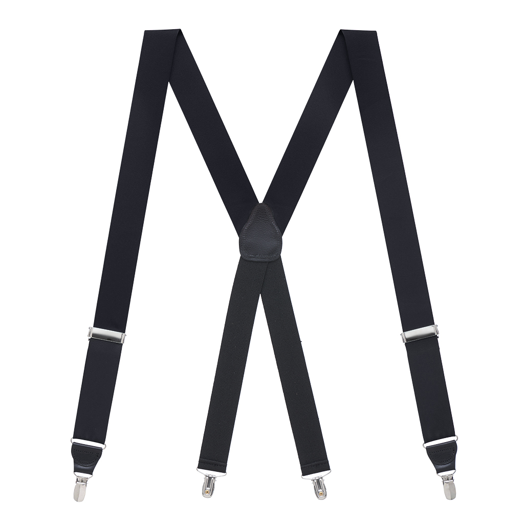Grosgrain Clip Suspenders - Black Full View