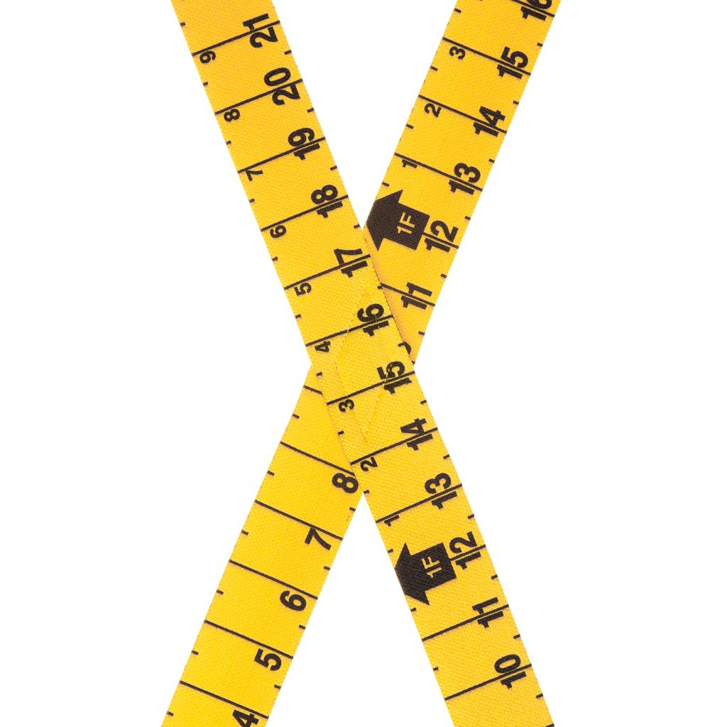 Tape Measure Suspenders - Rear View