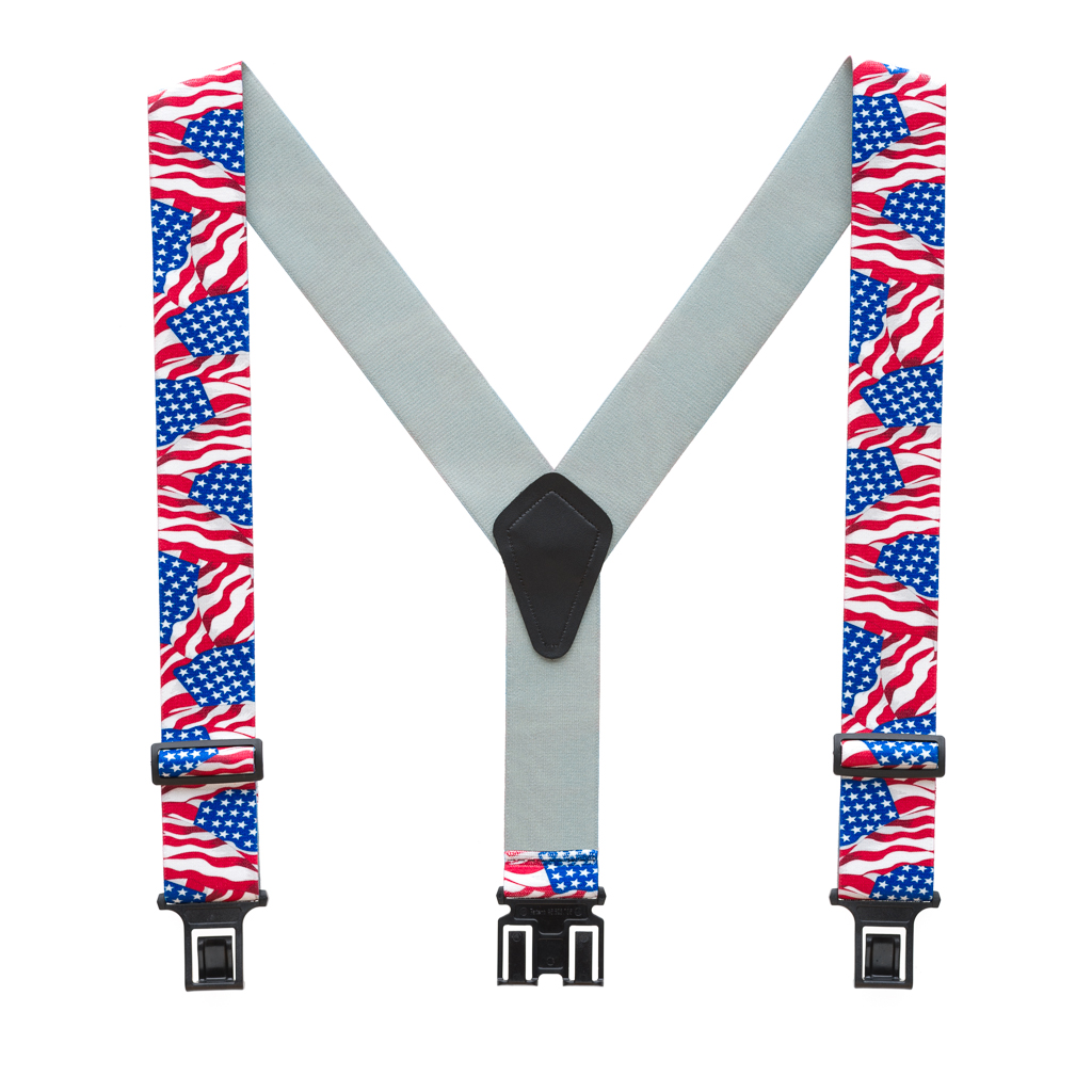 Perry Suspenders - Full View - American Flag