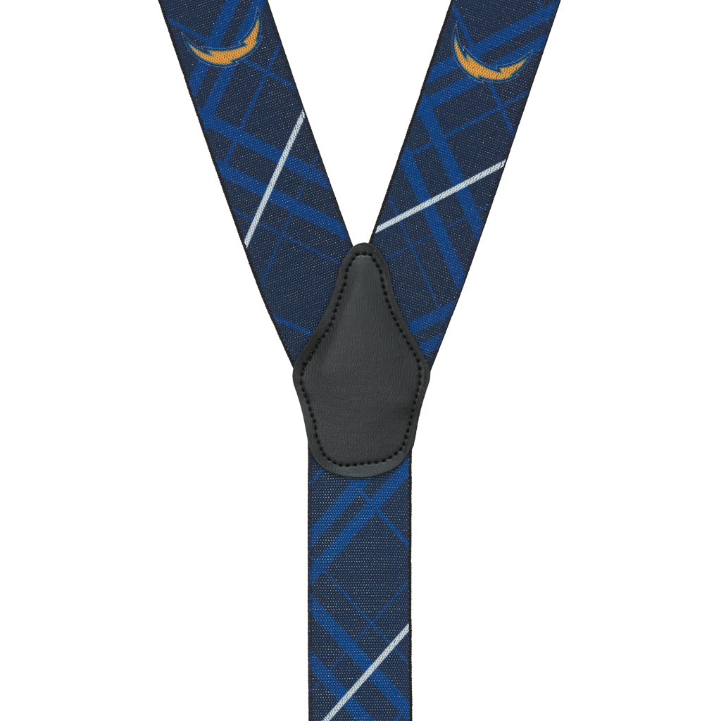 San Diego CHARGERS Football Suspenders