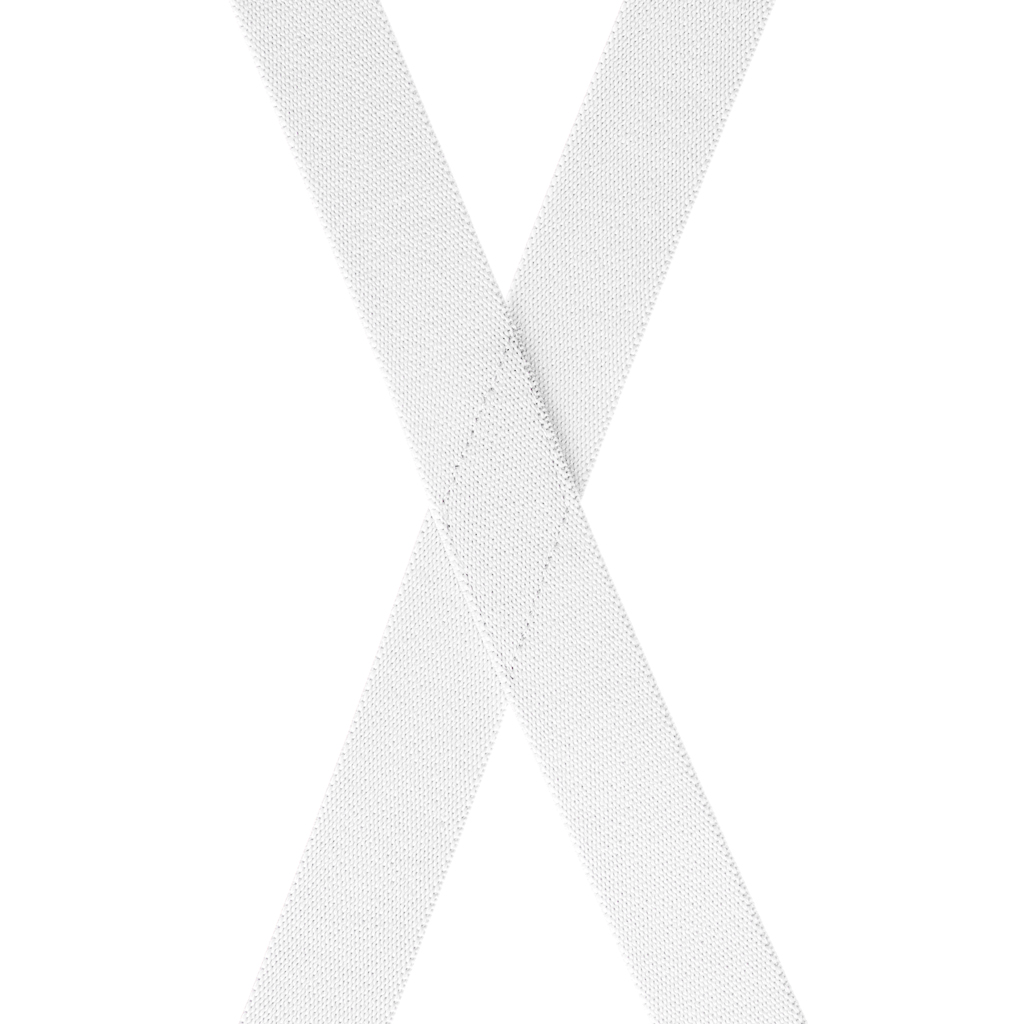 1-Inch Wide Suspenders in White - Rear View
