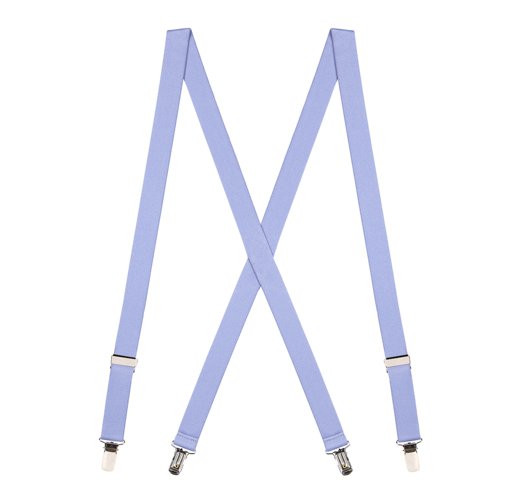 1-Inch Clip Suspenders in Light Purple - Full View