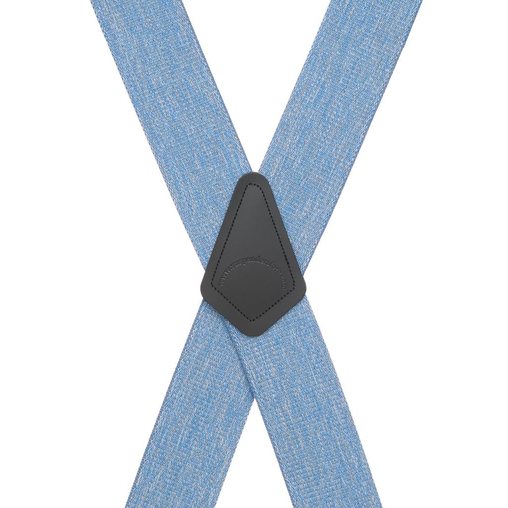 Denim Suspenders - Rear View