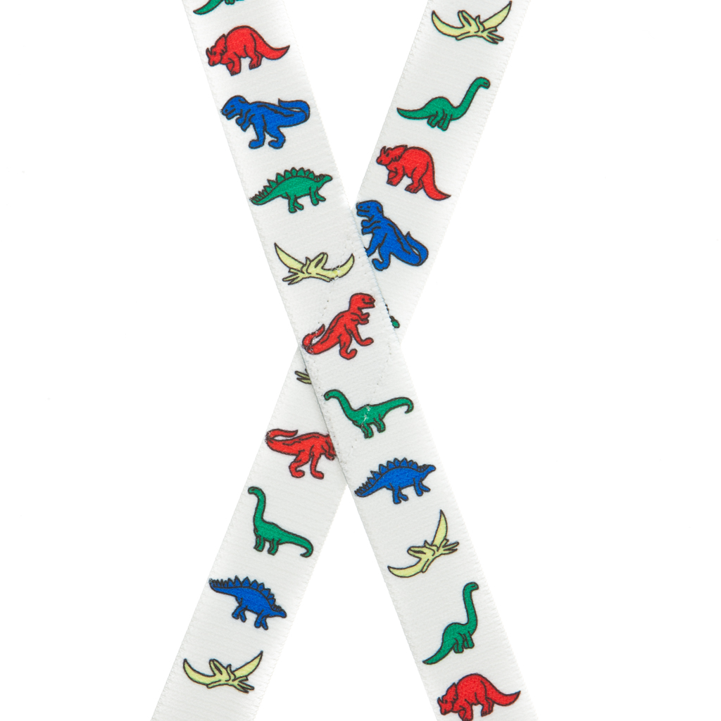 Dinosaur Suspenders - Rear View