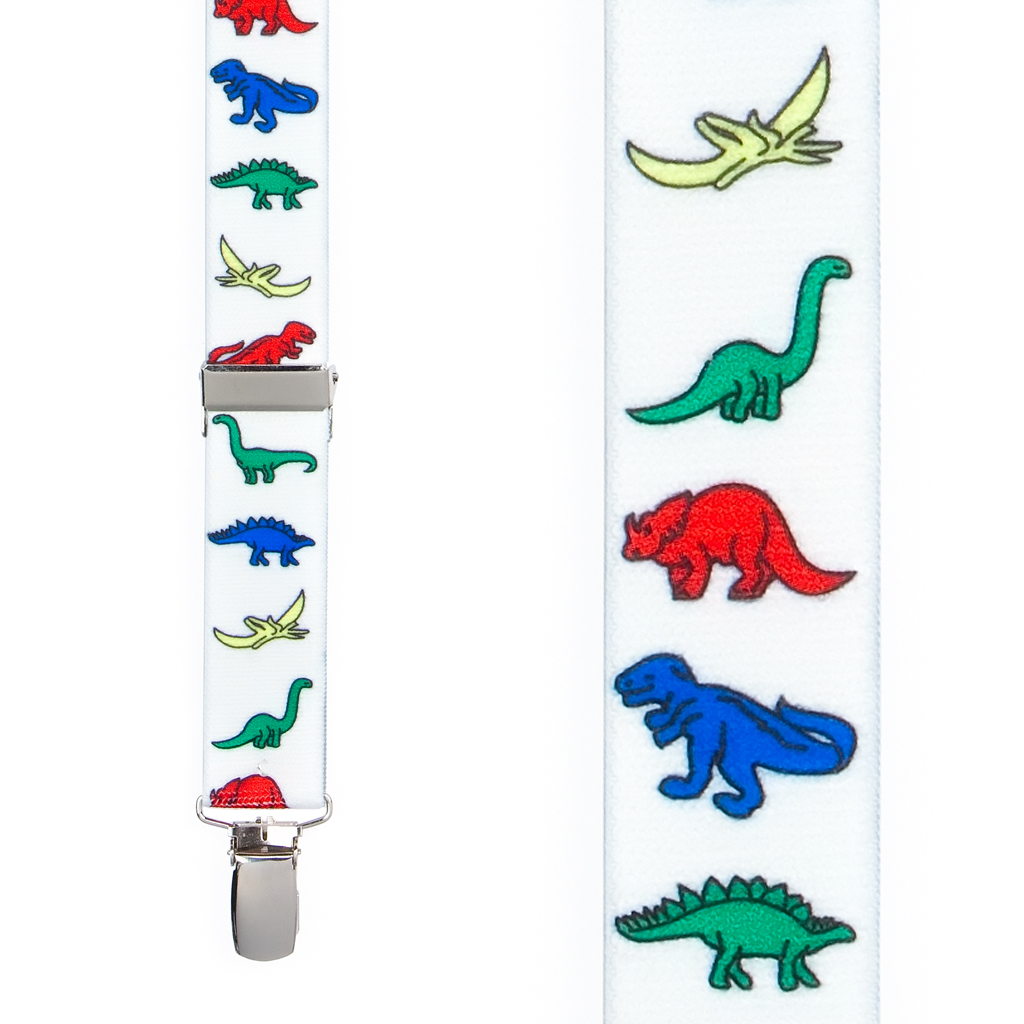 Dinosaur Suspenders - Front View