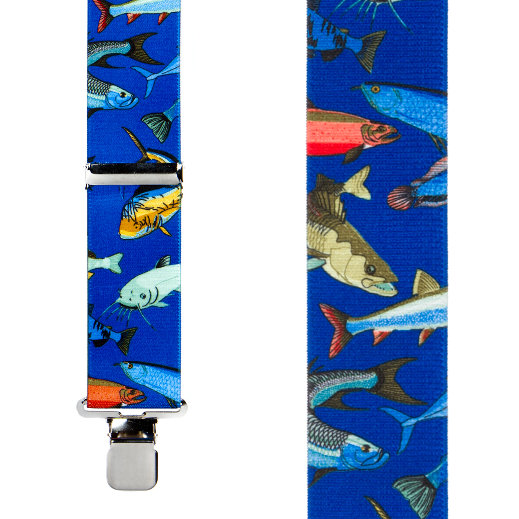 Mixed Fish Suspenders - Front View