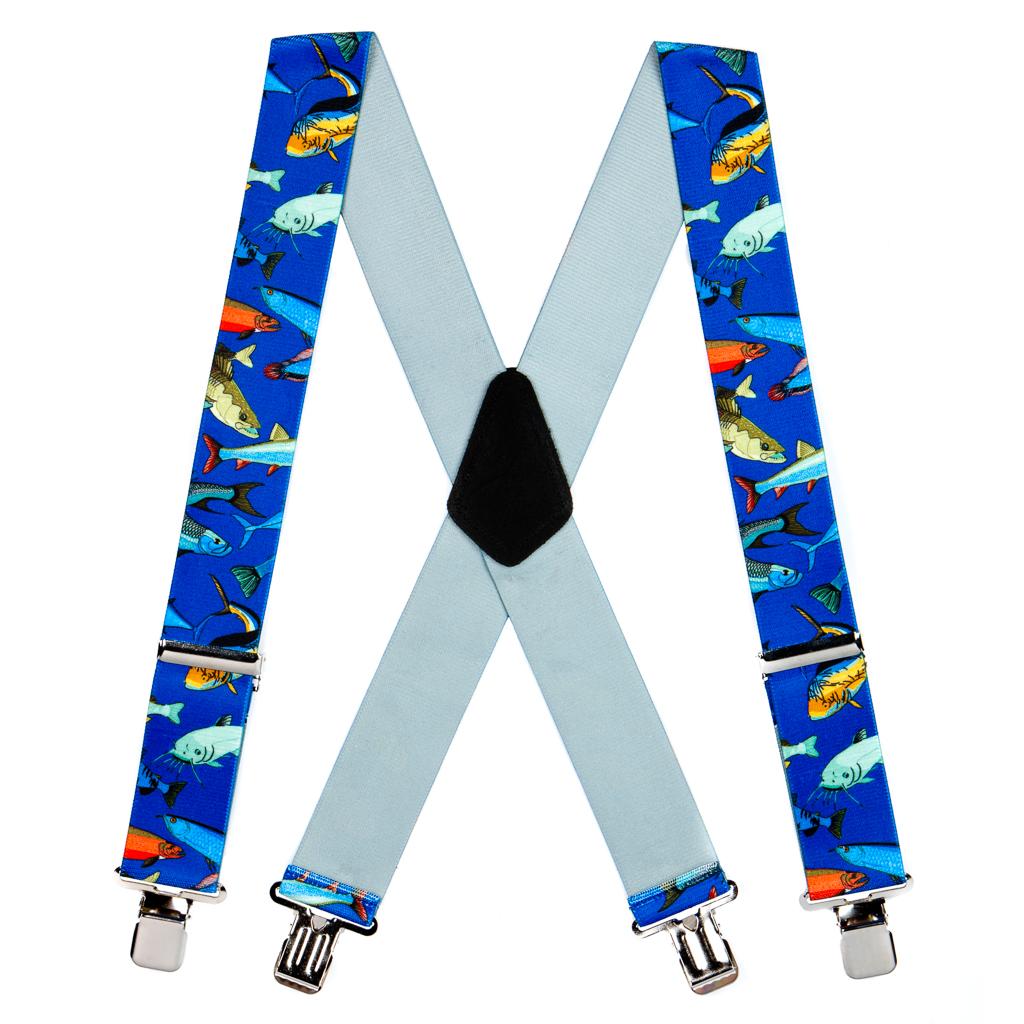 Mixed Fish Suspenders - Full View