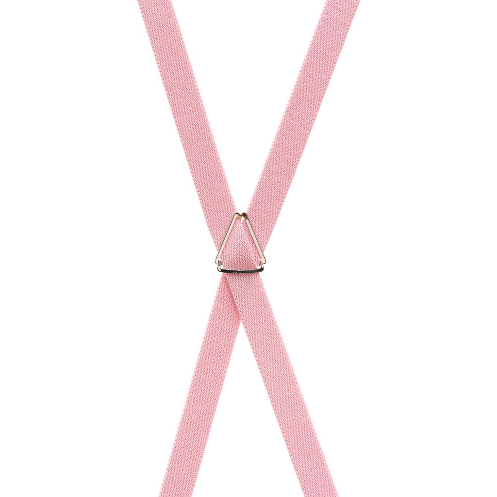 Skinny Suspenders in Light Pink - Rear View