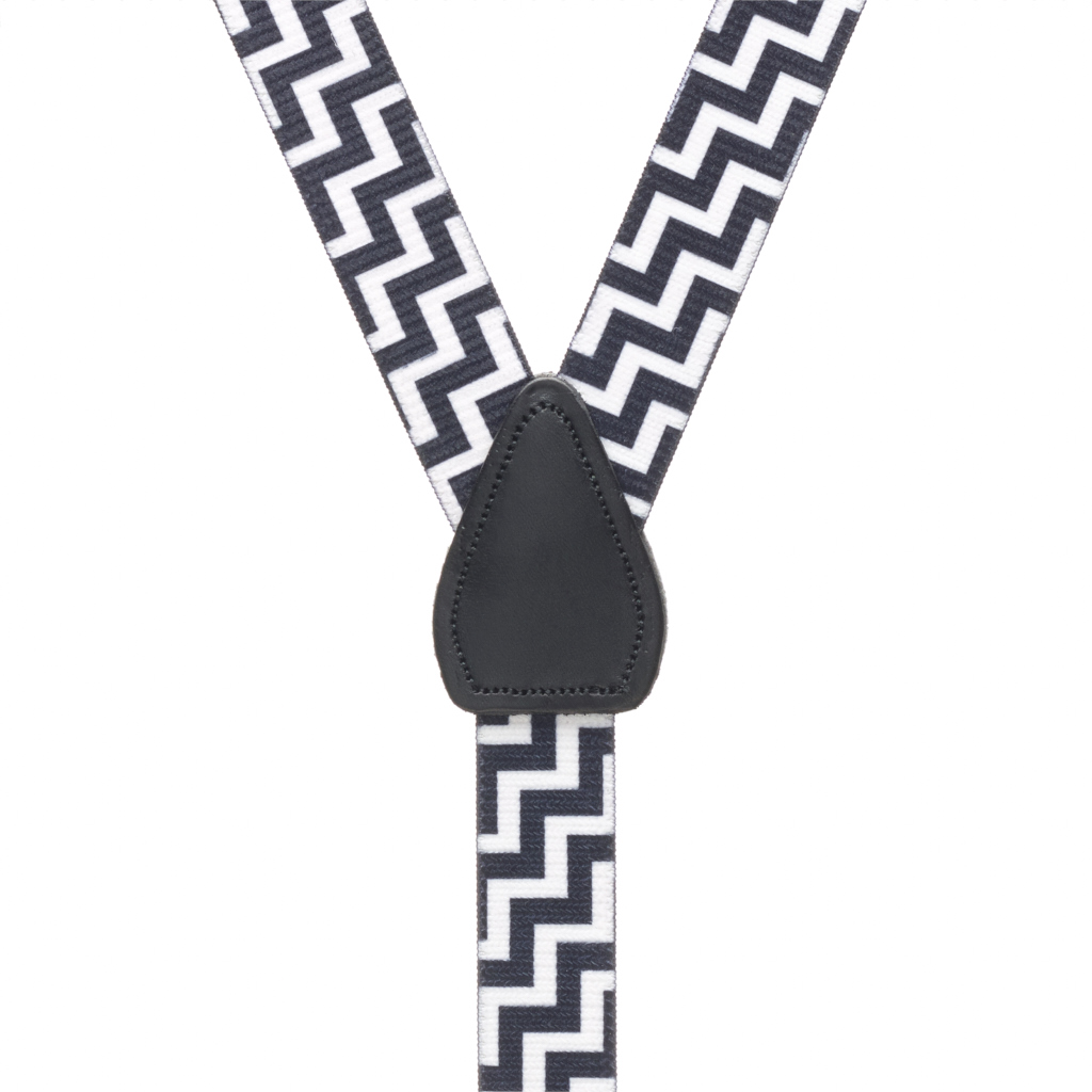 Zig Zag Suspenders - Rear View