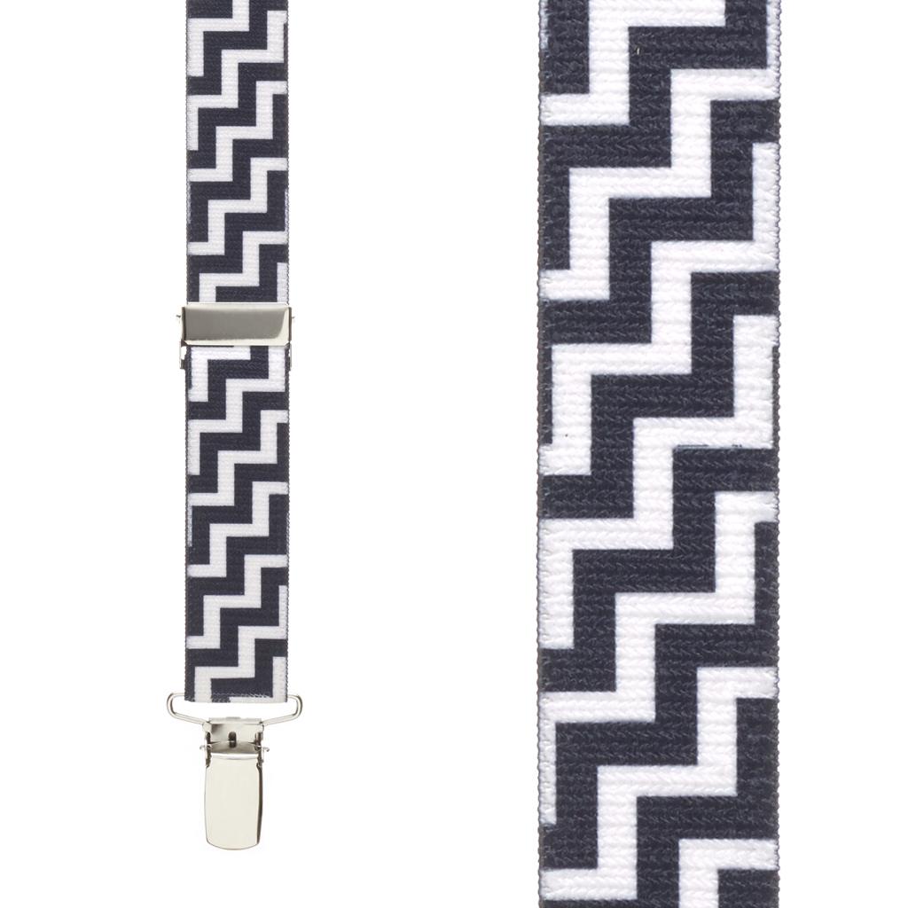 Zig Zag Suspenders - Front View