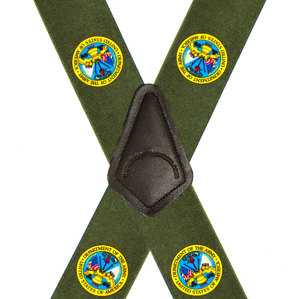 Army Suspenders - Rear View