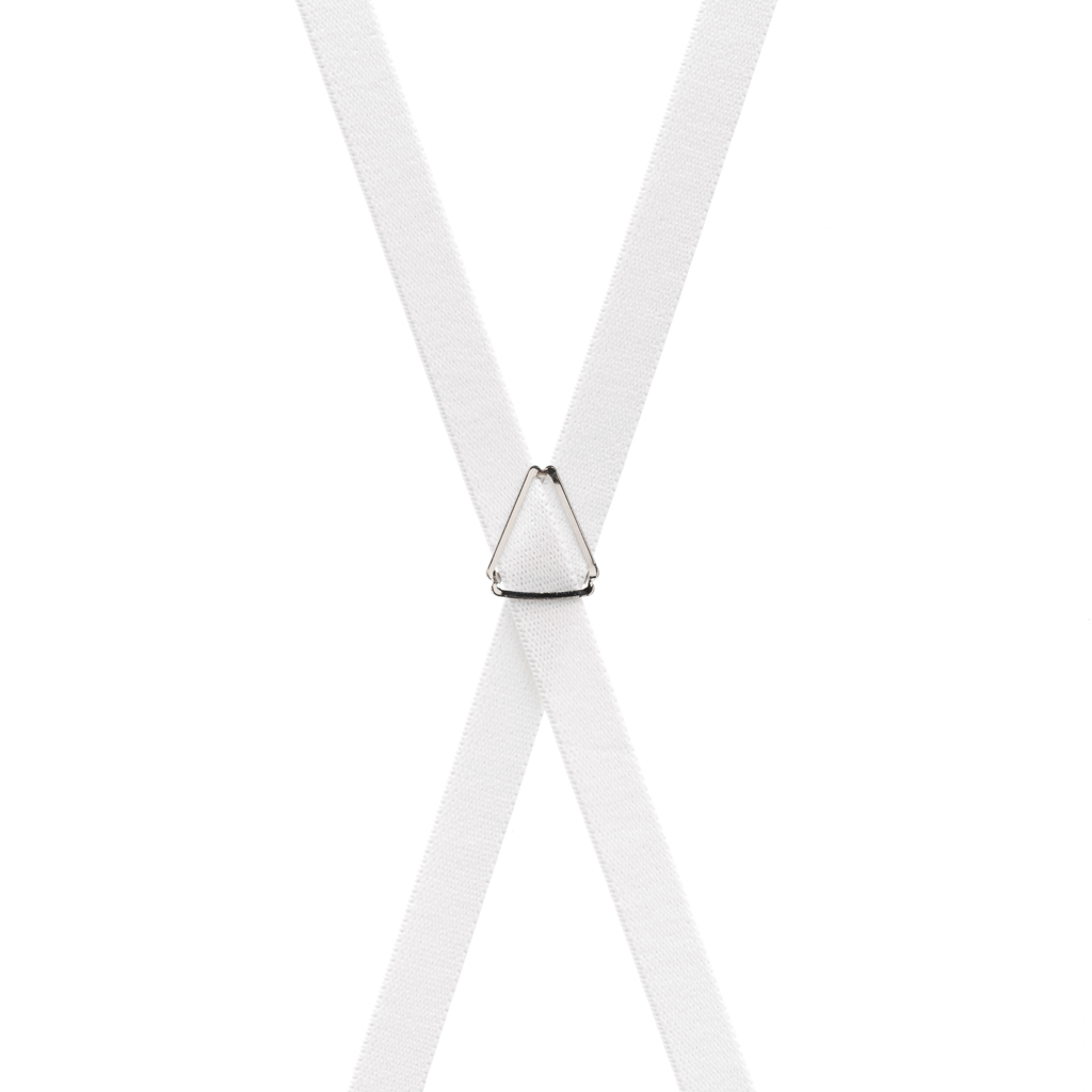 Skinny Suspenders in White - Rear View