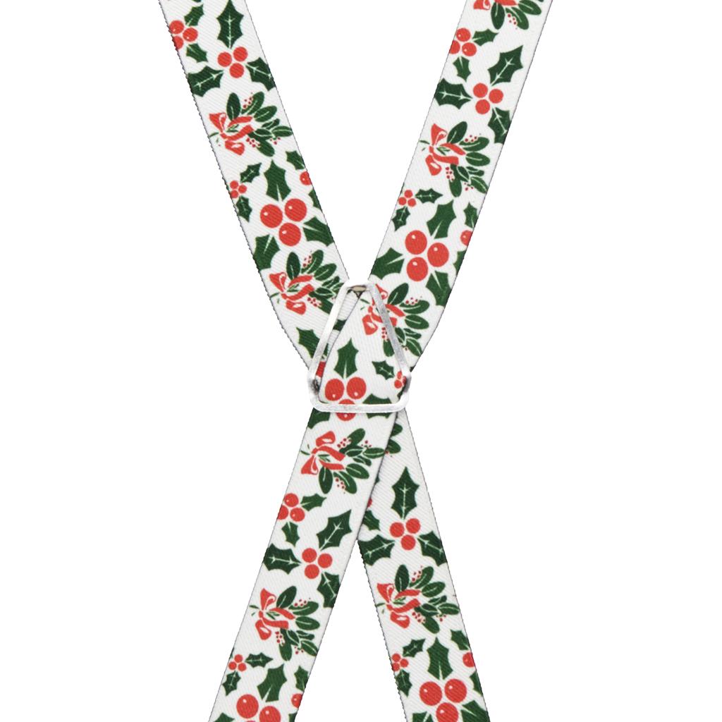 Mistletoe Suspenders - Rear View