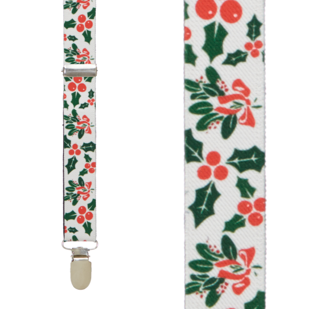 Mistletoe Suspenders - Front View