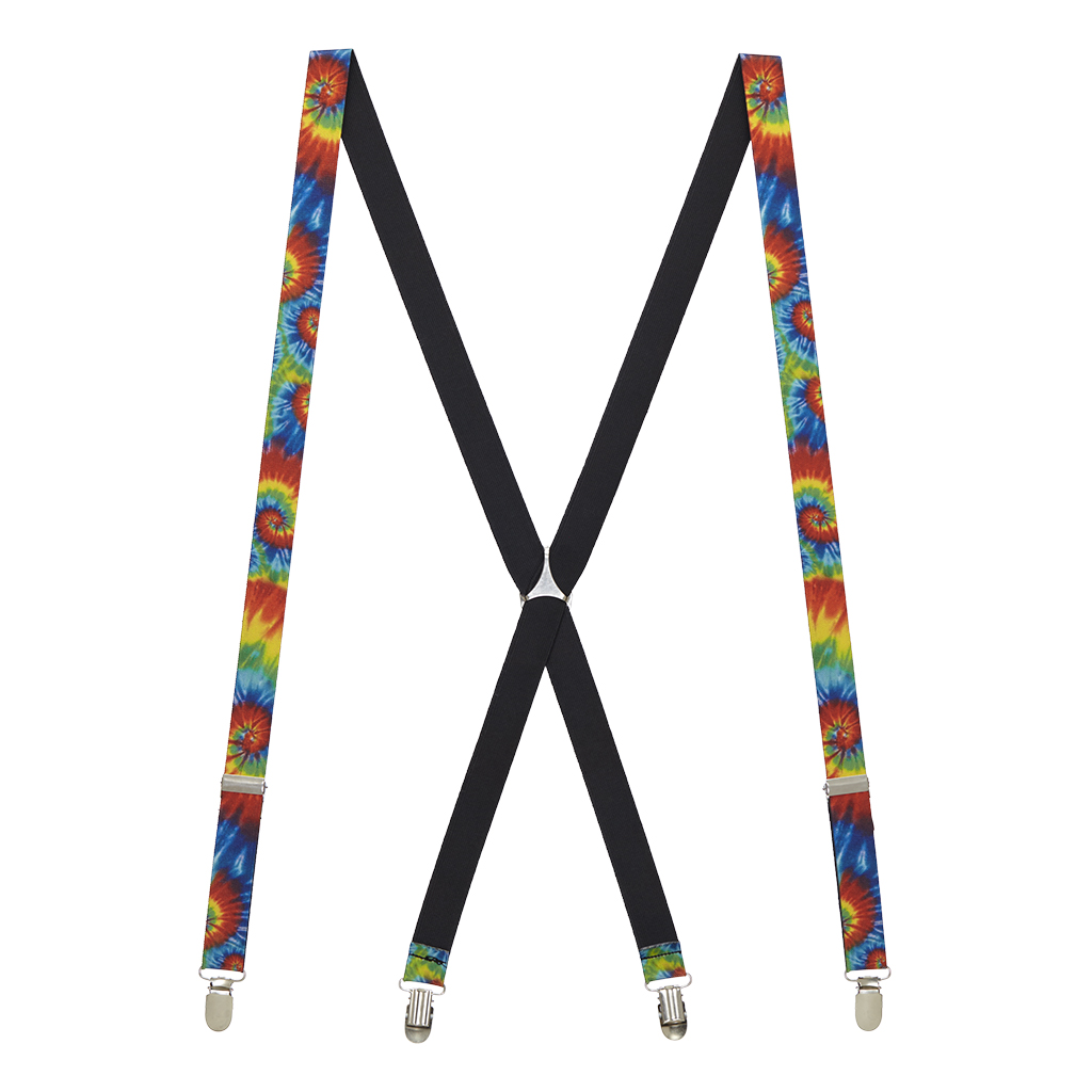 Tie-Dye Swirl Suspenders - Full View