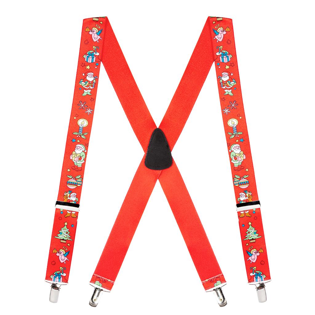Santa on Red Suspenders - Full View