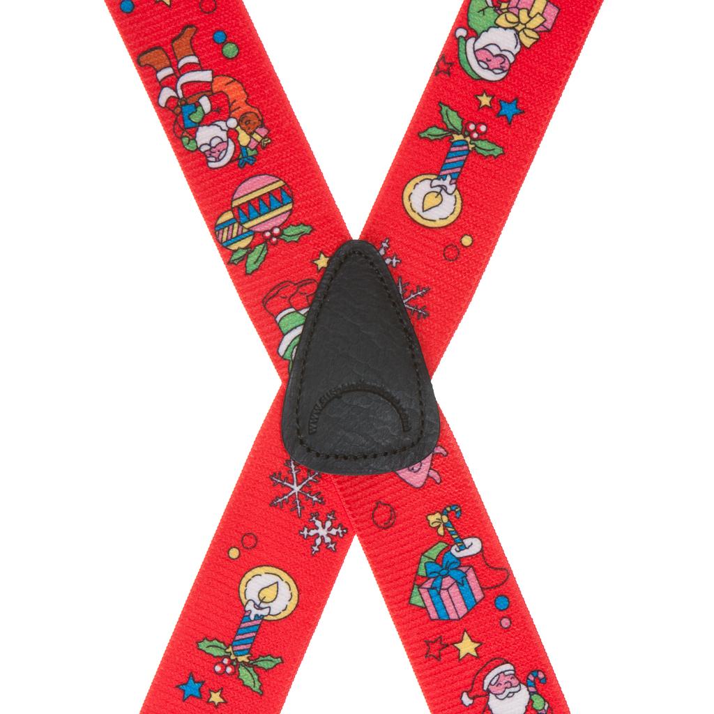 Santa on Red Suspenders - Rear View