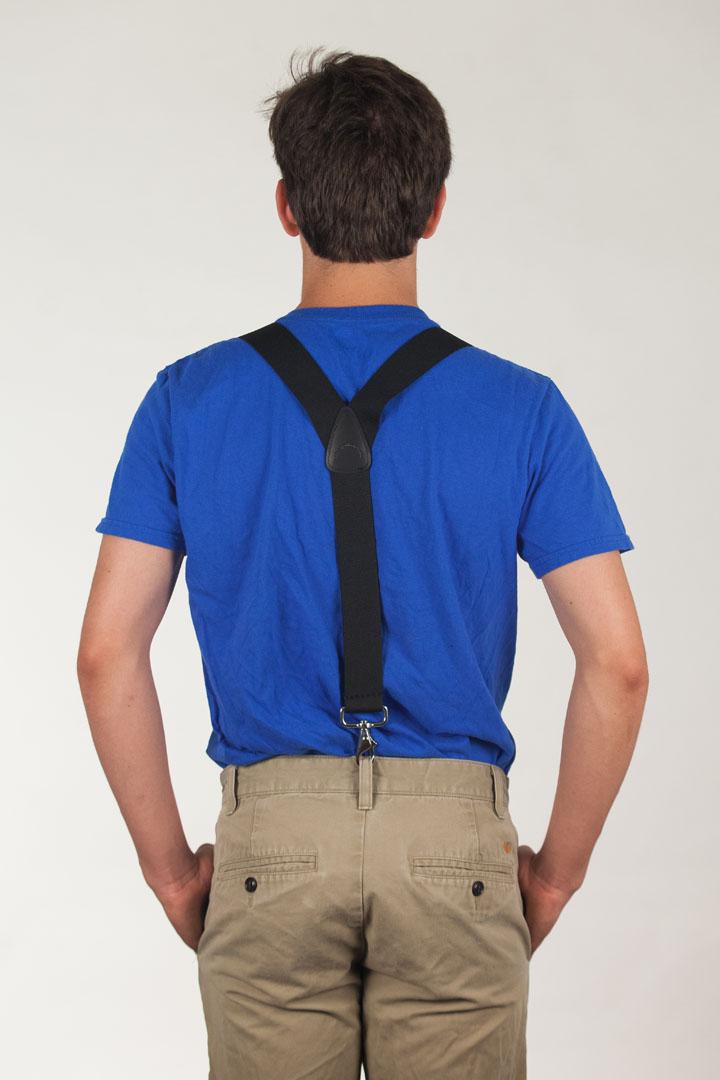 1.5 Inch Wide Y-Back Trigger Snap Suspenders
