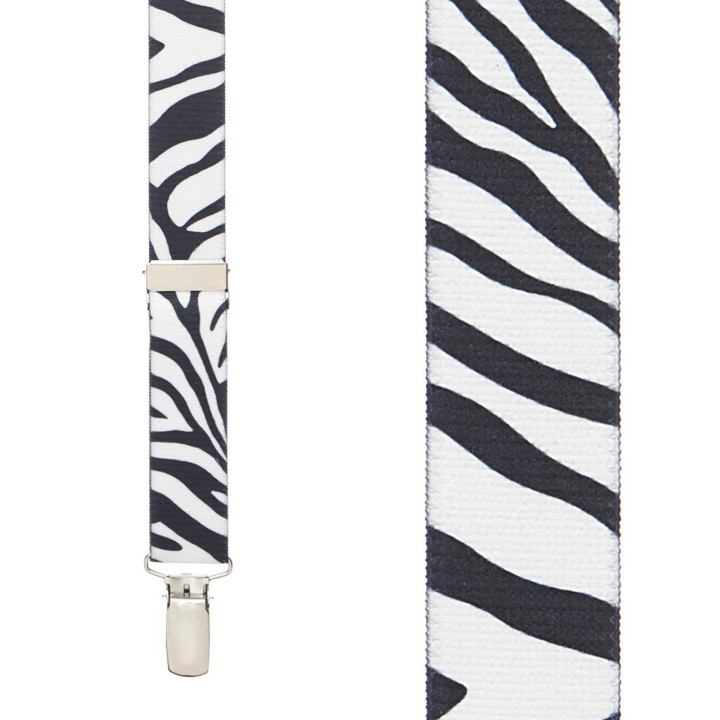 Zebra Stripe Suspenders - Front View