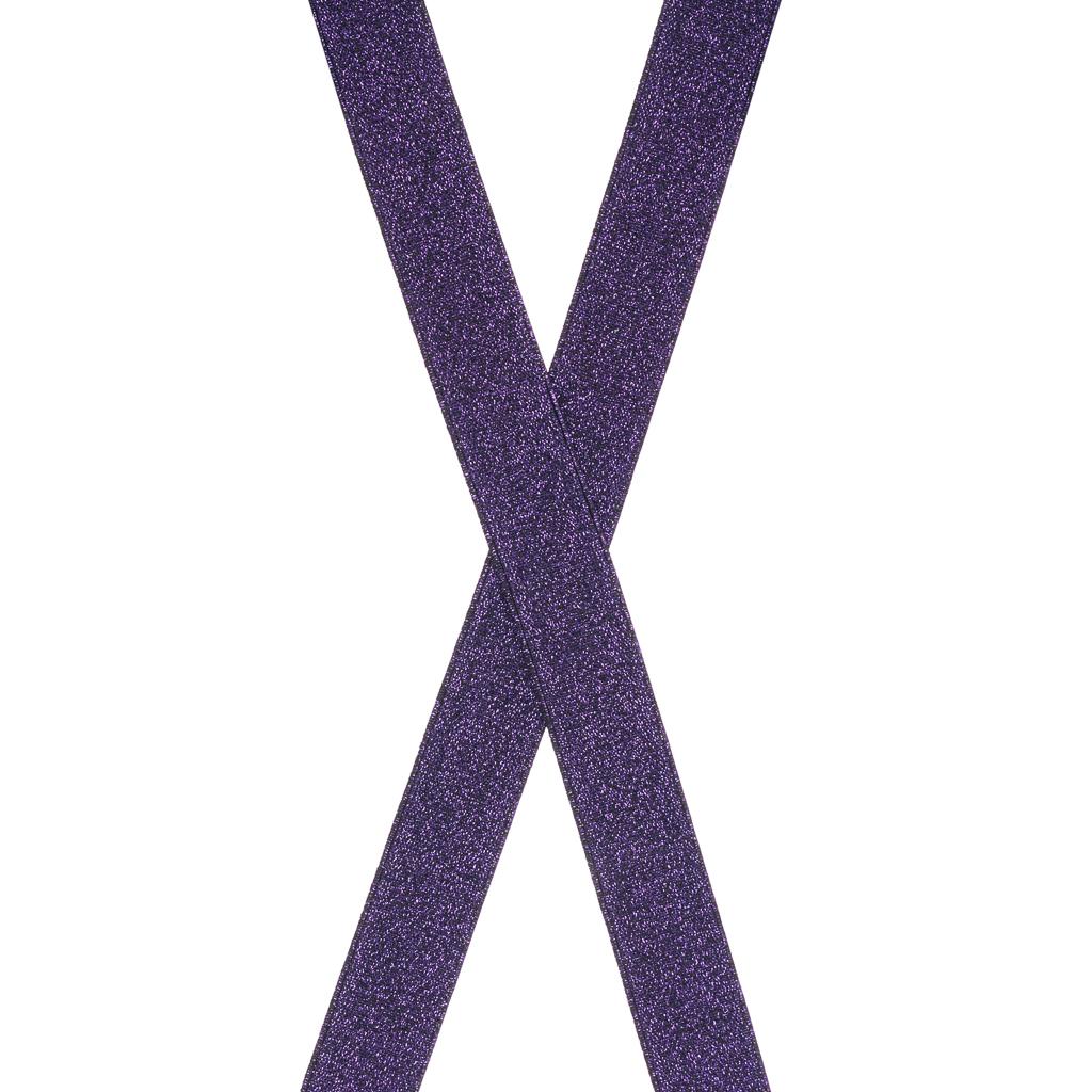 Glitter Suspenders in Purple - Rear View