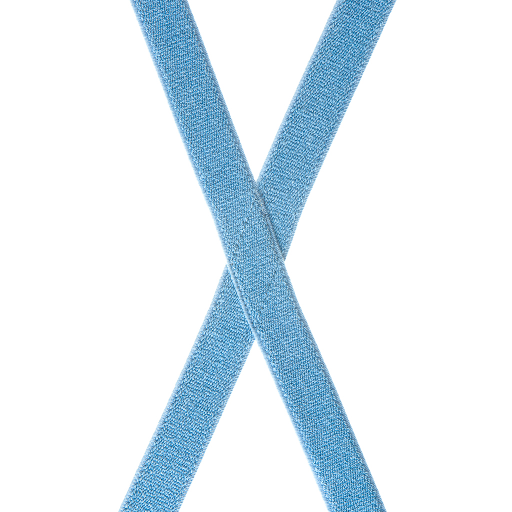 Denim Suspenders - 1 Inch Wide - Rear View