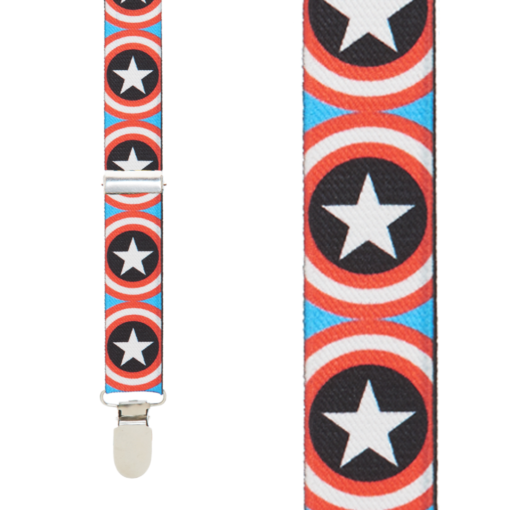Captain America Suspenders - Front View