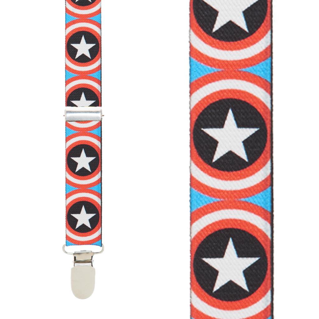 Captain America Suspenders - Front View