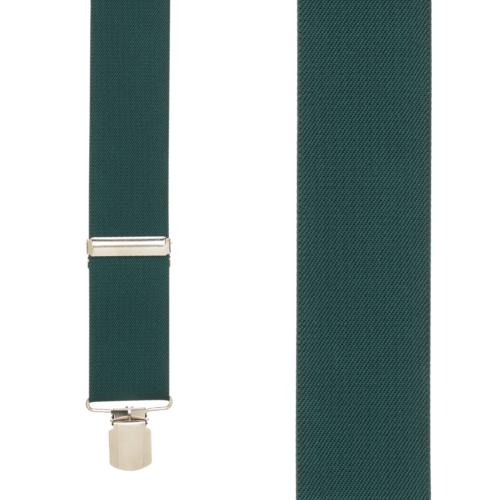 Classic Suspenders in Hunter - Front View