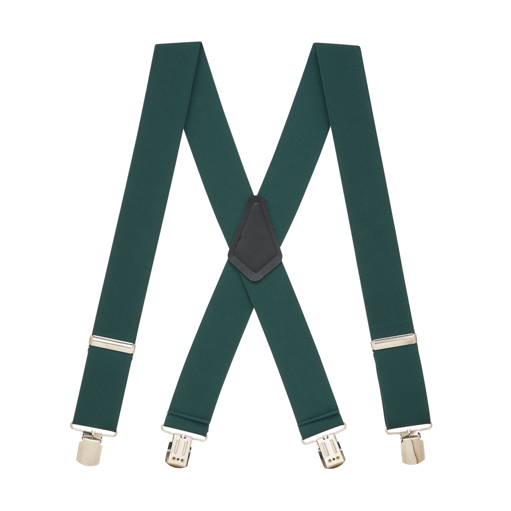 Classic Suspenders in Hunter - Full View