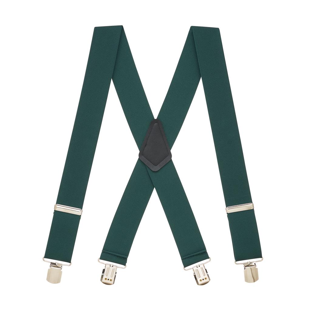 Classic Suspenders in Hunter - Full View