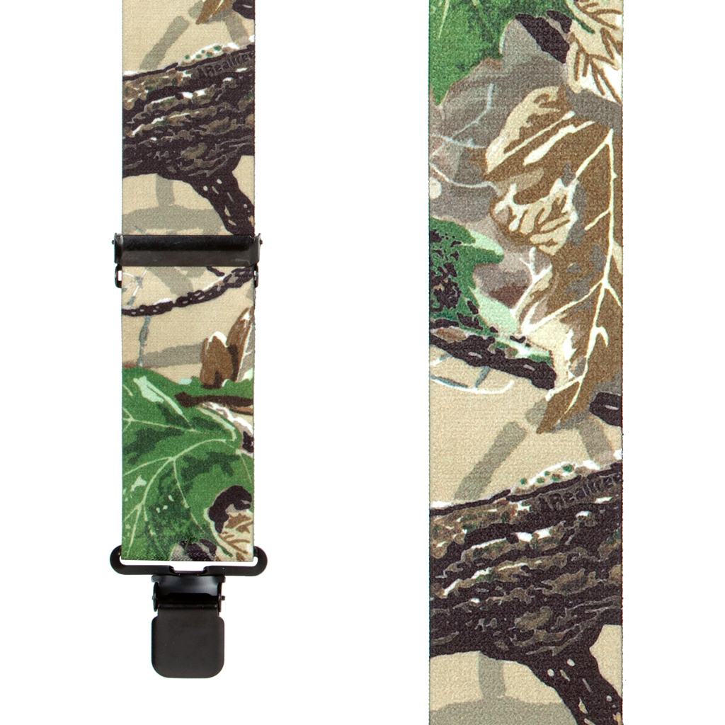 Real Tree X-TRA Brown Camo Suspenders - Front View