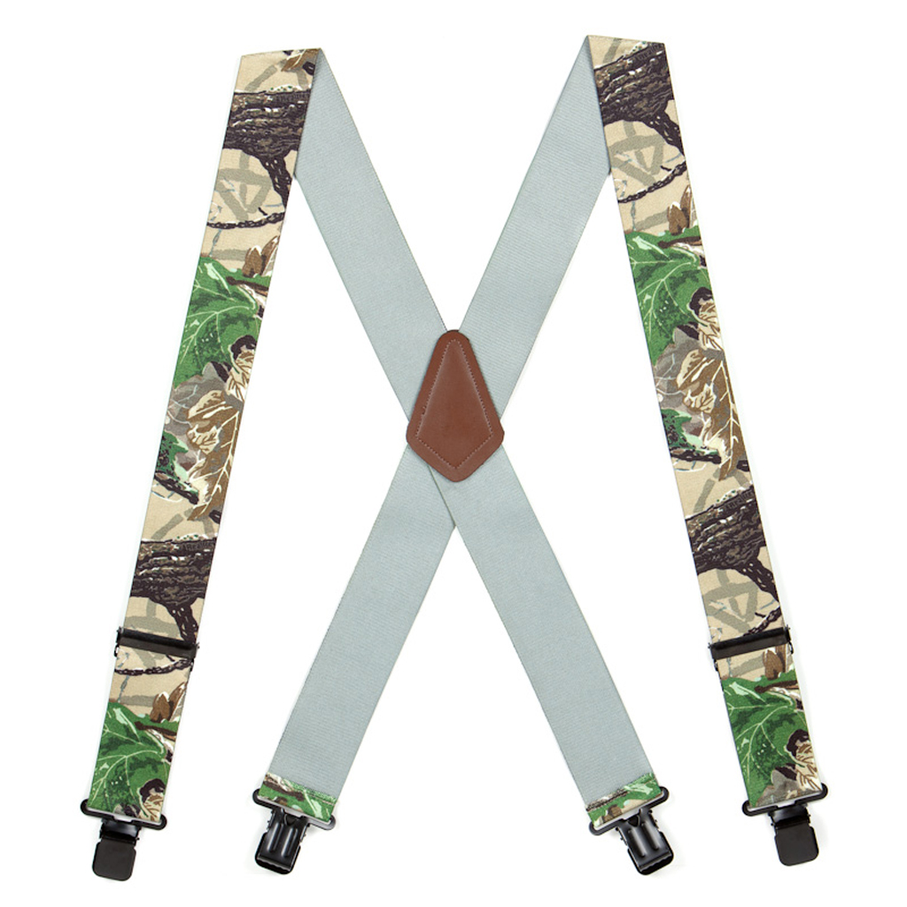 Real Tree X-TRA Brown Camo Suspenders - Full View