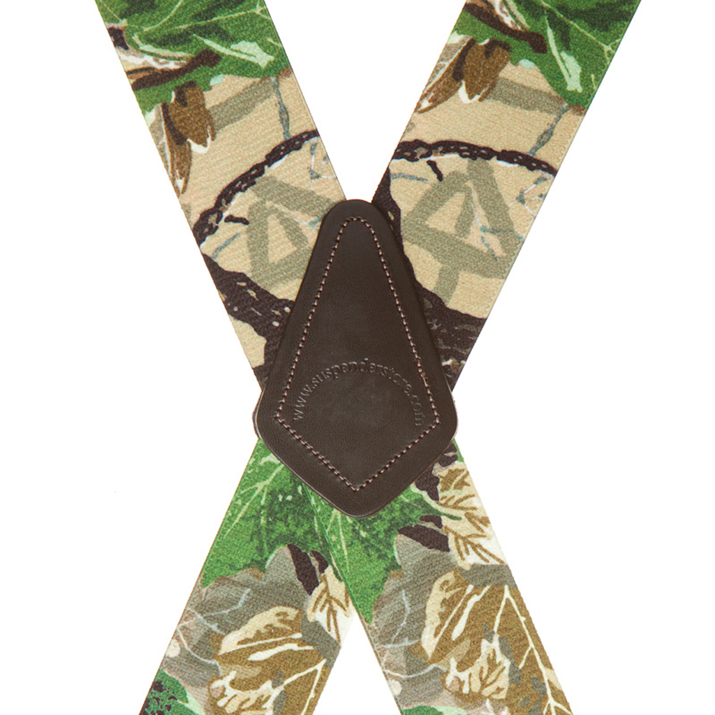 Real Tree X-TRA Brown Camo Suspenders - Rear View