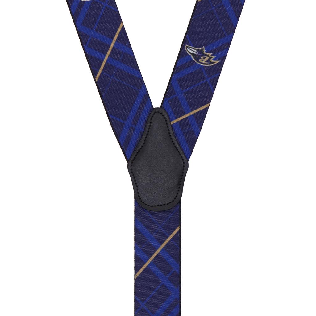 Ravens Suspenders - Rear View