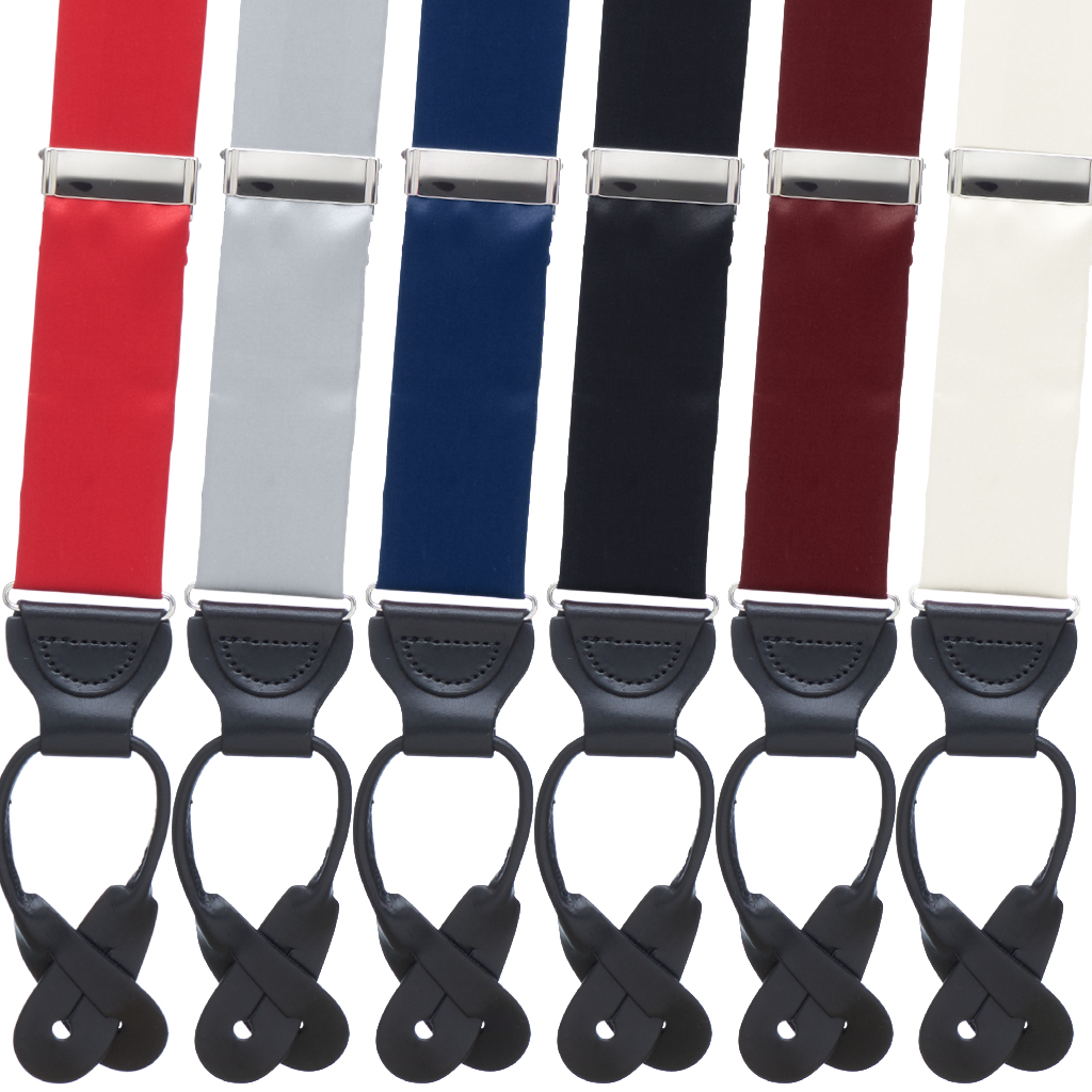 Bangkok Silk Button Suspenders - All Colors