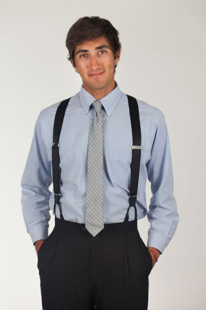 Bangkok Silk Suspenders - Button