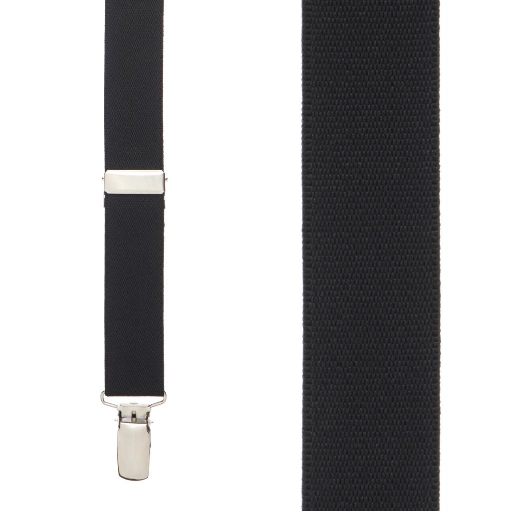 Black Suspenders - Front View
