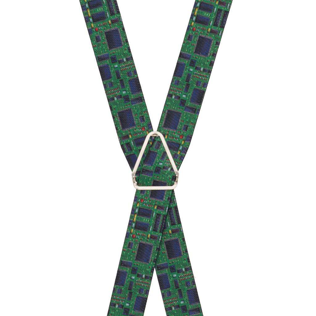 Circuit Board Suspenders - Rear View