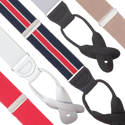1.25 Inch Wide Button Suspenders - All Colors