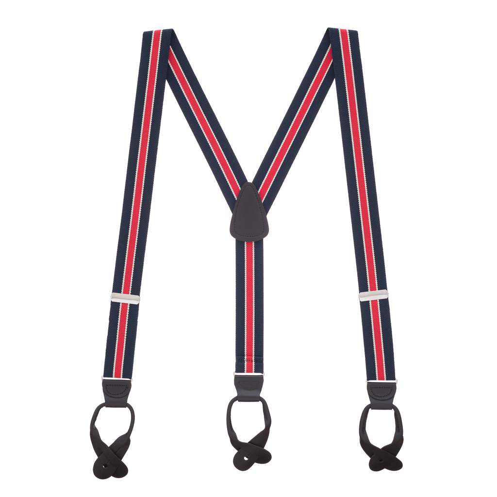 1.25 Inch Wide Button Suspenders