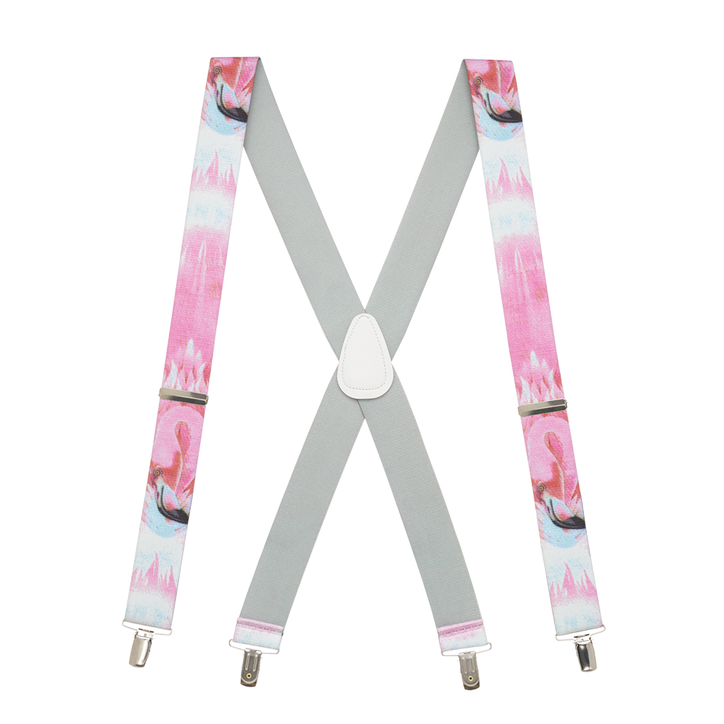 Flamingo Suspenders - Full View