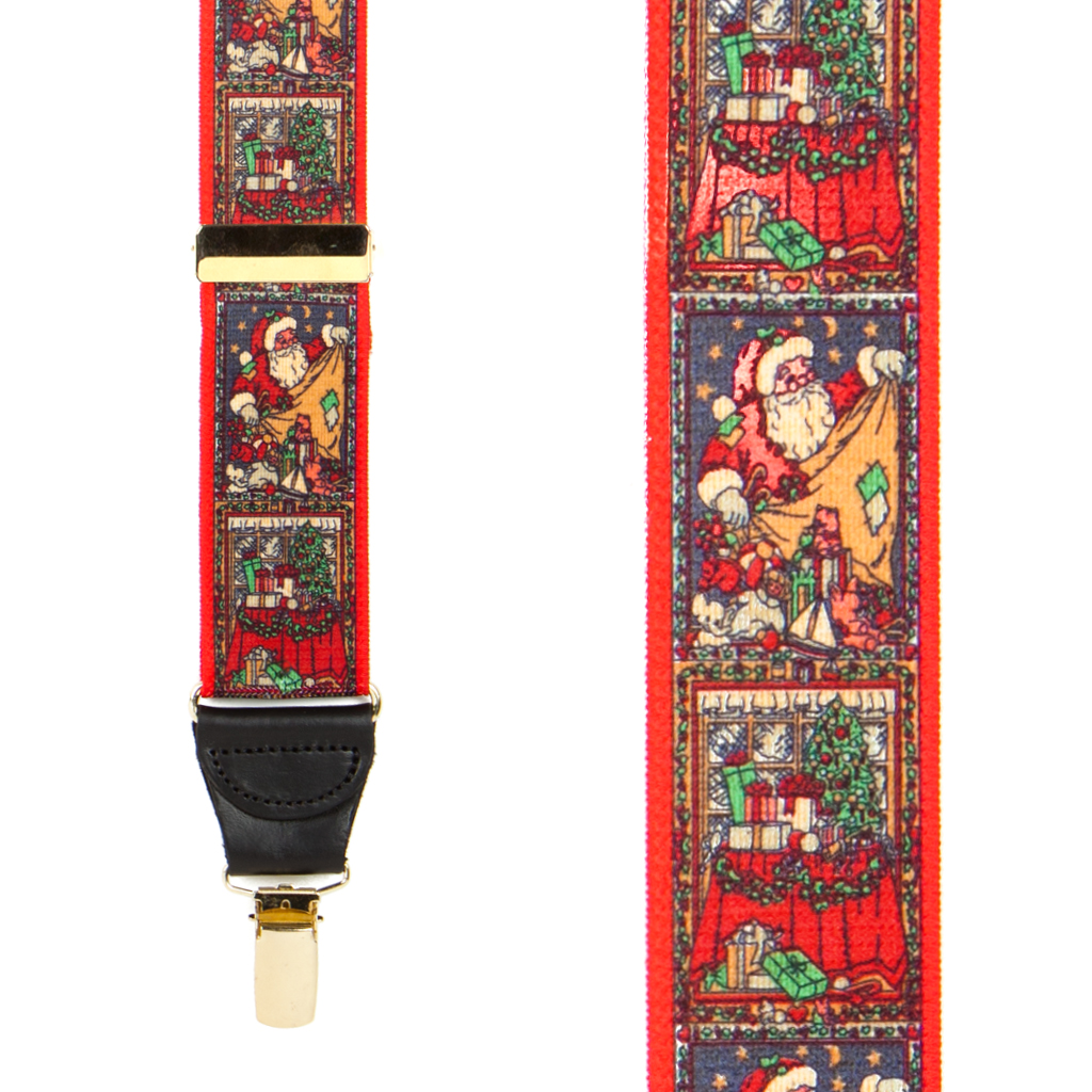 Kris Kringle Christmas Suspenders - Front View