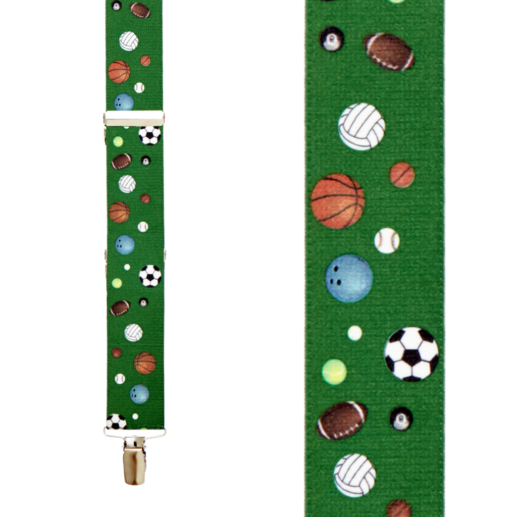 Sports Ball Suspenders - Front View
